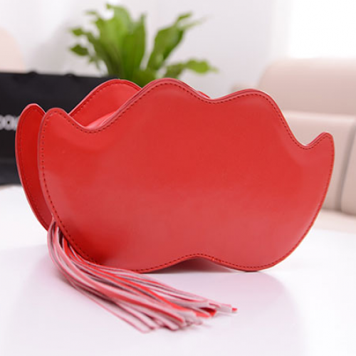 3D Women Mustache Fringe Shoulder Bag Purse