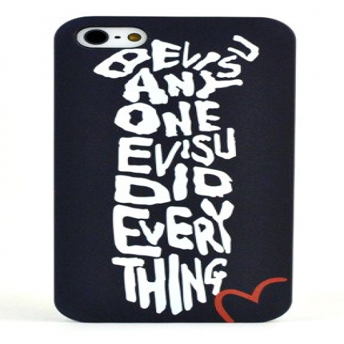 Evisu Japan Case for iPhone 5 5s Black and White