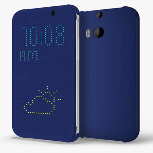 HTC M8 Dot View Case Blue