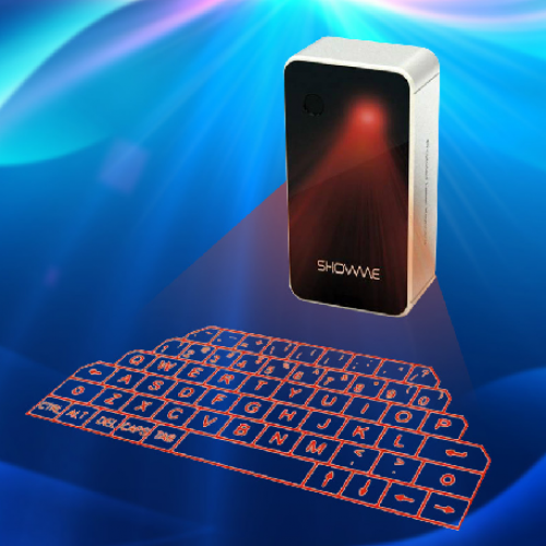 Virtual Laser Projection Keyboard for iPads, Android Tablets, and Computers