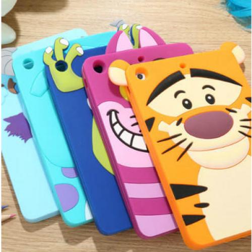 Character Case for iPad Mini and iPad Mini 2 Retina Monsters Inc, Cheshire Cat, Tiger