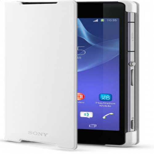 Official Sony Style Cover Stand Case for Xperia Z2-White