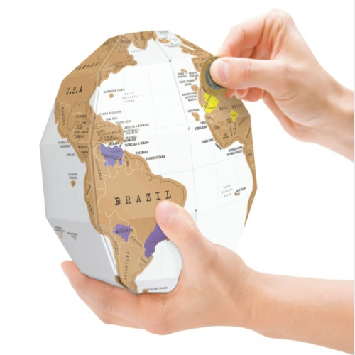 GeekFun 3D Scratch Globe World Map