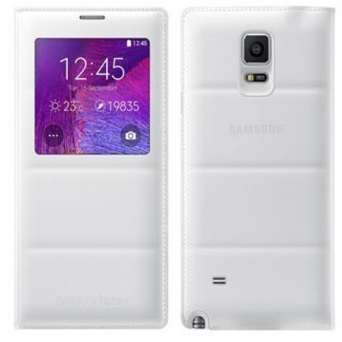 Samsung S-View Flip Cover (White) for Galaxy Note 4