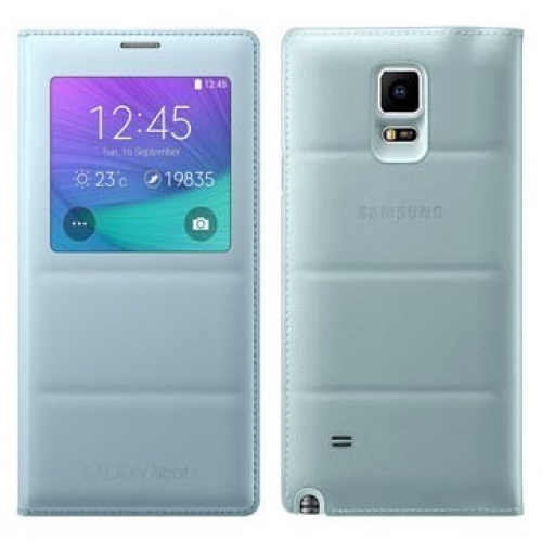 Samsung S-View Flip Cover (Light Blue) for Galaxy Note 4