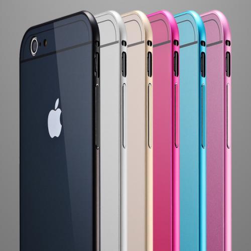 Sleek Full Body Sliding Backplate Apple Logo Bumper Case for iPhone 6 Plus