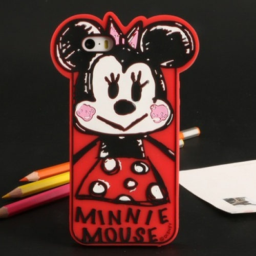 Baby Minnie Silicone Case for iPhone 6 Plus