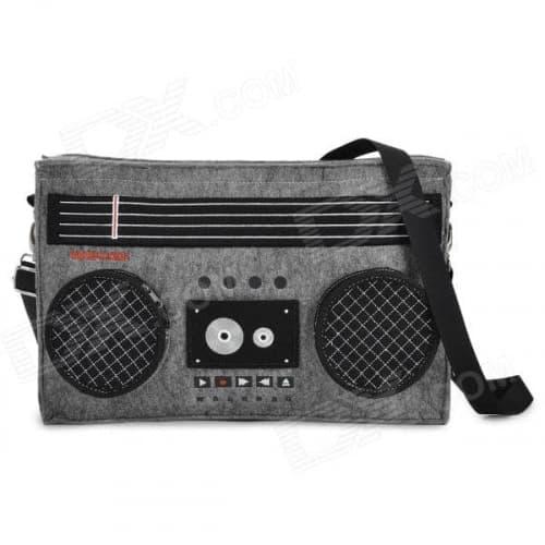 GeekCook Retro Radio Cassette Recorder Felt Fabric Shoulder Bag Carrying Case