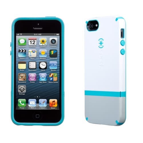 Speck Candyshell Flip iPhone 5 - White/Pebble/Peacock