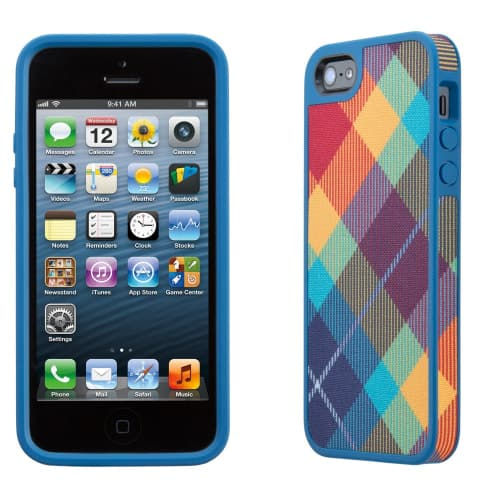FabShell for iPhone 5 - MegaPlaid Spectrum