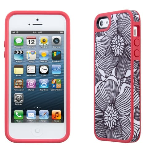 FabShell for iPhone 5 - FreshBloom Coral
