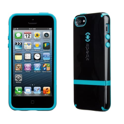 Speck Candyshell Flip iPhone 5 - Black/Black/Peacock