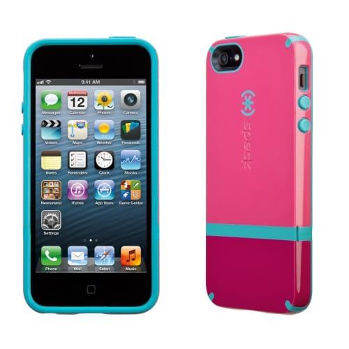 Speck Candyshell Flip iPhone 5 - Raspberry/Dark Raspberry/Peacock