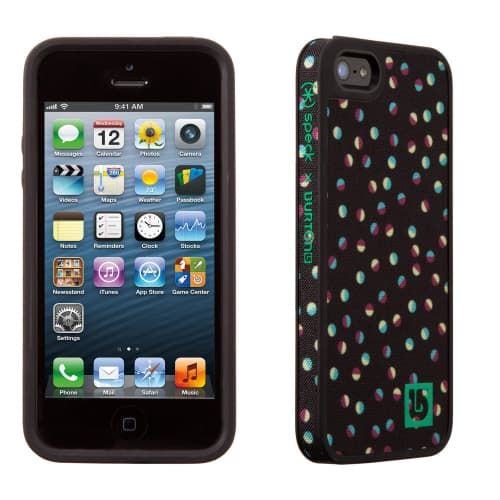 Speck FabShell Burton for iPhone 5 Girls Confetti Black
