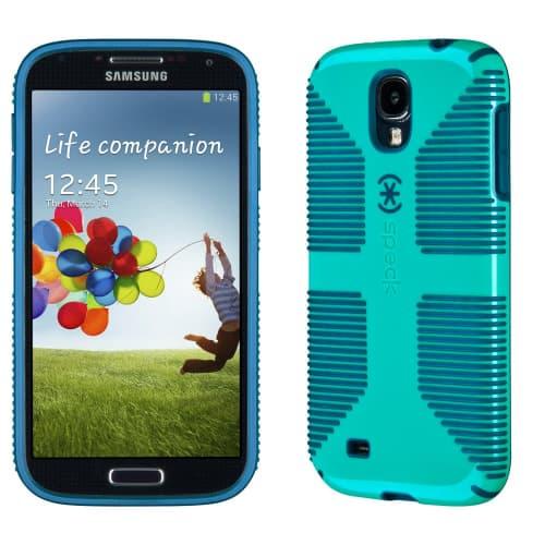 Speck CandyShell Grip for Galaxy S4 Caribbean Blue Deep Sea Blue