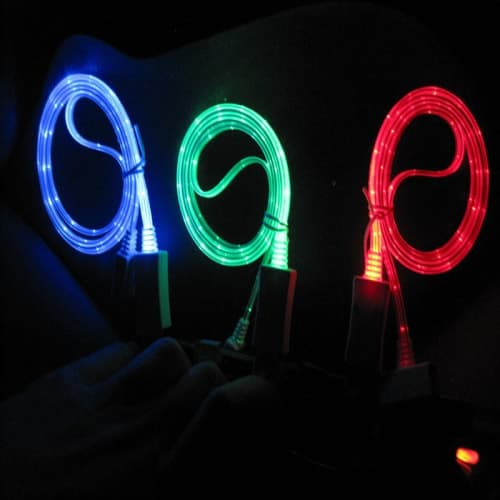 LED Sync Charging Micro USB Cable for Samsung Galaxy S3, S4 Note HTC