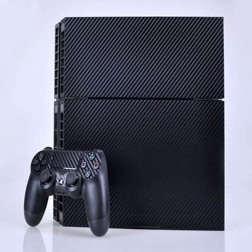 PS4 Carbon Fiber Decal Skin for Console and Controller