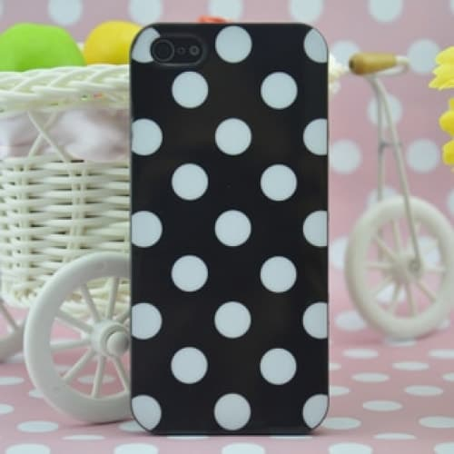 Fashion Designer Polka Dot New York Agenda Style Black TPU Case for iPhone 5