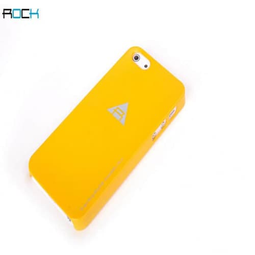 Rock Naked Shell Series Back Cover Snap Case for iPhone 5 - Orange