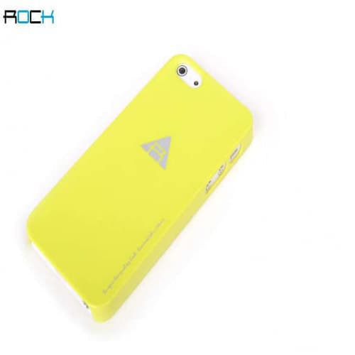 Rock Naked Shell Series Back Cover Snap Case for iPhone 5 - Yellow