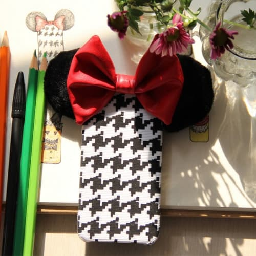 Cute 3D Big Minnie Mouse Ear with Bow iPhone 6 Case