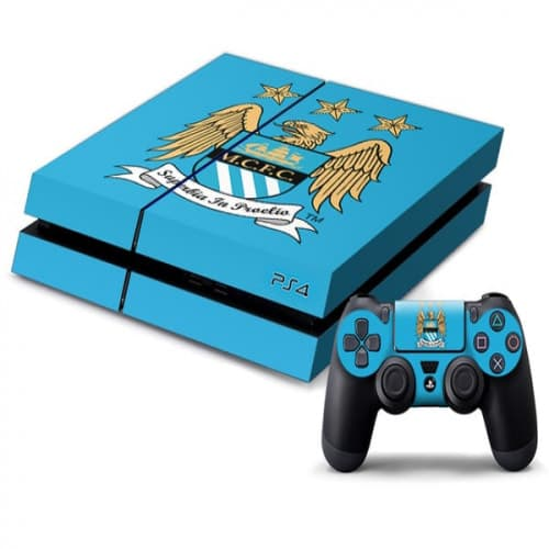 PS4 Manchester City FC Decal Skin for Console and Controller