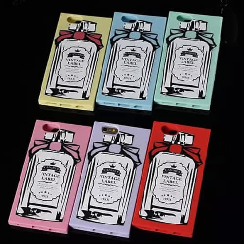 Vintage Label Classic Perfume Bottle Silicone Candies iPhone 5 5S Case