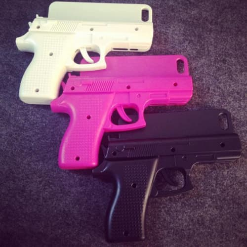 3D Toy Gun Shape Hard Shell Protective Case Cover for iPhone 4 4s