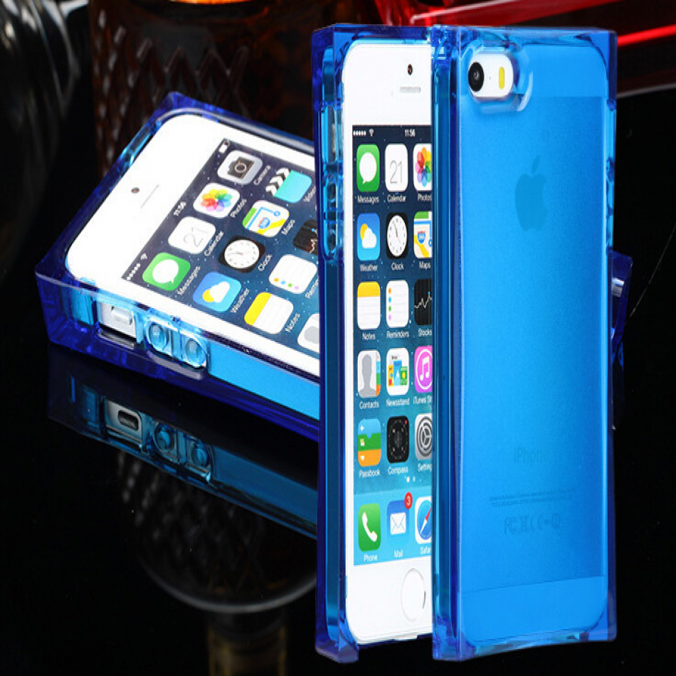 Iphone 5 5s Ice Block Silicone Case With Led Flashing