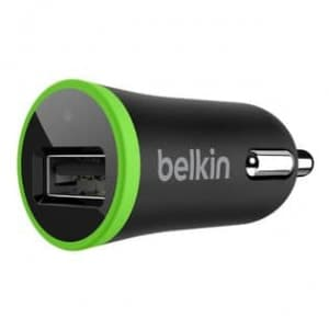 Belkin Car Micro Charger Black 2.1 AMP for Apple and Android Devices