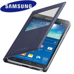 Original Samsung Galaxy Note 3 S-View Cover Indigo Blue