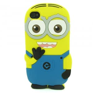 3D Two Eyes Minion Despicable Me Case for iPhone 4 4s