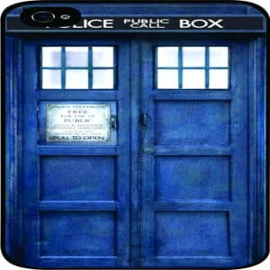 Tardis Doctor Who Police Box Time Machine iPhone 4 & 4s Case