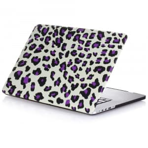 MacBook Pro Skin Shell Full Body Case for MacBook Air Pro Retina 11 13 15 All Models Purple Leopard
