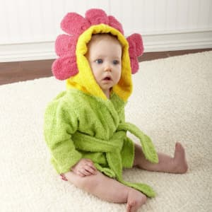 Baby Aspen Showers and Flowers Hooded Spa Robe