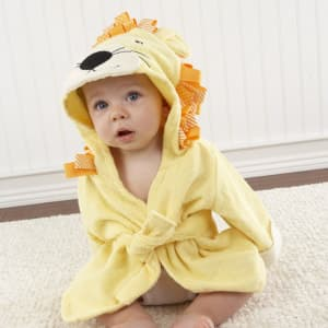 Baby Aspen Big Top Bath Time Lion Hooded Spa Robe