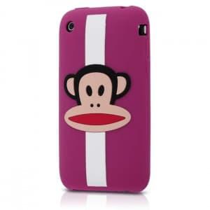 Paul Frank Zoom Stripe Julius Purple Silicone Case for iPhone 3G/3GS