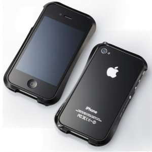 Draco IV Deff Cleave Alumimum Bumper Frame Case for iPhone 4 & 4S - Black