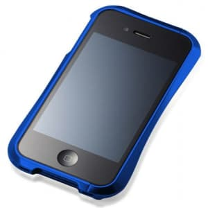 Draco IV Deff Cleave Aluminum Bumper Frame Case for iPhone 4 & 4S - Blue
