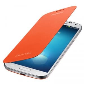 Samsung Galaxy S4 Orange Flip Cover