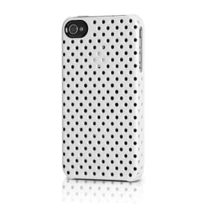 iphone 4 perforated snap black