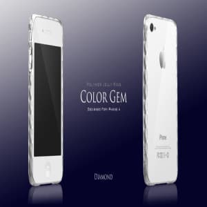 More Color Gem Polymer Jelly Ring for iPhone 4 AP13-024 (Yellow)