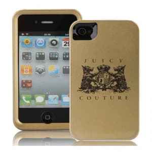 Juicy Couture New Crest Case for iPhone 4 Gold