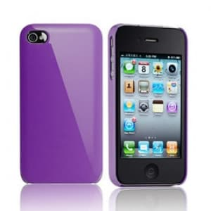 Essential TPE Iro Glossy Indigo Purple UV Coating Snap Case for iPhone 4