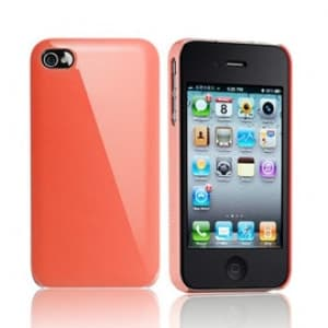 Essential TPE Iro Glossy Orange UV Coating Snap Case for iPhone 4
