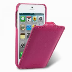 Melkco Premium Leather Case for Apple iPhone 5 5S - Jacka Type (Purple)