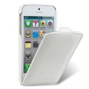 Melkco Premium Leather Case for Apple iPhone 5 - Jacka Type (White)