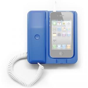 Blue Retro Telephone Phone X Phone iPhone Smartphone Dock Station Headset Headphone