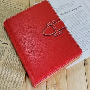 High Fashion Designer Inspiried H Leather Smart Cover Case iPad 2 iPad 3 - Red