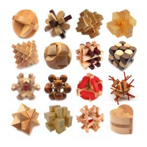 16 pcs Kong Ming Locks Wooden Blocks 3D Puzzle